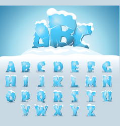 ice letters with snow vector image