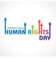 International human rights day -10 december vector