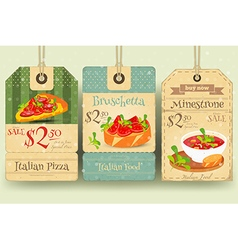 Italian food - set of tags vector