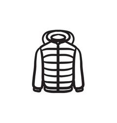Jacket sketch icon vector