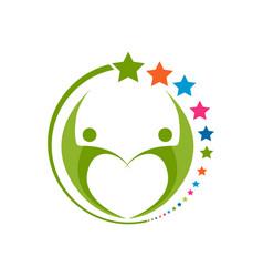 logo design for children schooling community vector image