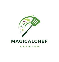 Magic chef food logo icon vector