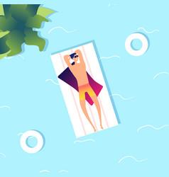 man swimming summer sea guy in water cartoon vector image