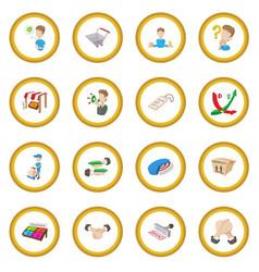 Marketing icon circle vector