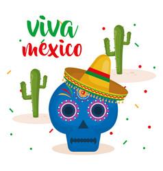 Mexican mask celebration icon vector
