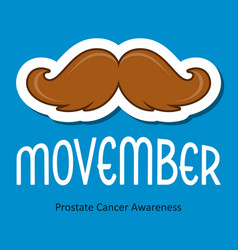 Modern movember cancer awareness event card vector