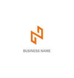 n initial line logo vector image