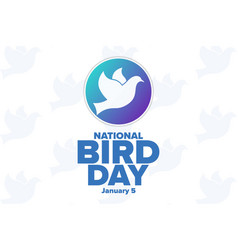National bird day january 5 holiday concept vector