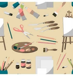 Painter set pattern vector