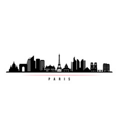 paris city skyline horizontal banner vector image