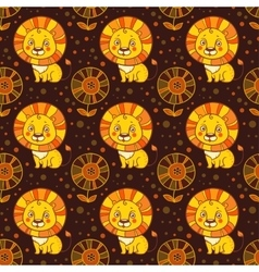 pattern cute little lion vector image