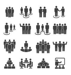 People group business team icon set vector