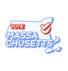Presidential vote in massachusetts usa 2020 vector