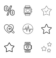 rate icons vector image