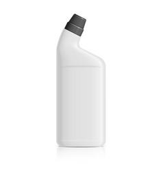 Realistic white plastic bottle for toilet vector