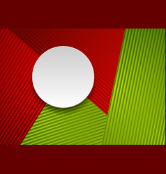 red and green abstract striped corporate vector image