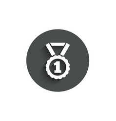 Reward medal simple icon winner achievement vector
