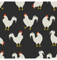 rooster pattern dark grey vector image