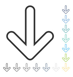 Rounded arrow down icon vector