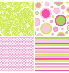 Scrapbook patterns for design vector vector
