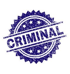 Scratched textured criminal stamp seal vector