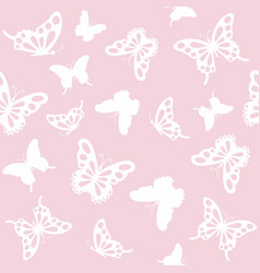seamless pattern background with butterflies vector image vector image