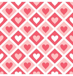 seamless pattern hearts and geometrical shapes vector image