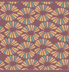 seamless warm pattern with retro flowers vector image