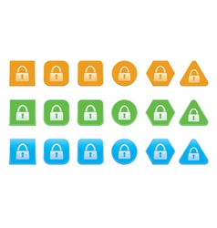 set of lock icons vector image