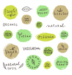 Set og vegan signs vector