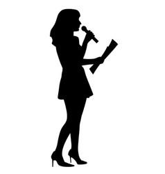 Show host anchor reporter or presenter woman vector