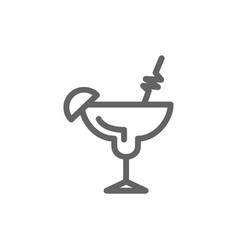simple cocktail line icon symbol and sign vector image