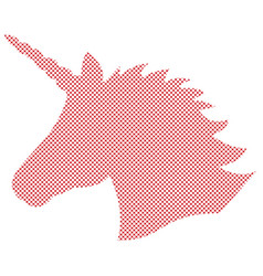 Simple unicorn in nordic cross stitch vector