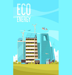 Smart city background poster vector