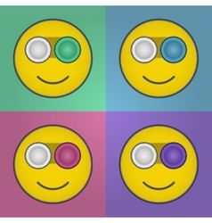 Smile contact lens case vector