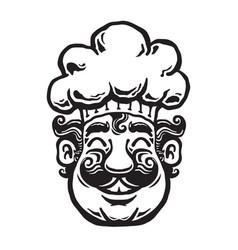 Smiling chef cartoon vector