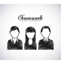 Teamwork business design vector