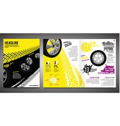 Tire brochure template vector