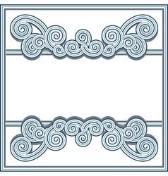 Wavy swirl frame vector image