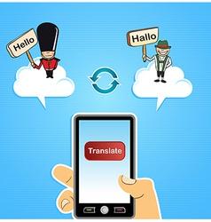 Cloud computing translate concept vector image