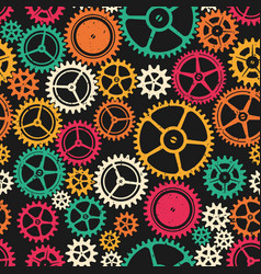 colored clockwork seamless texture vector image