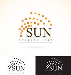 Company identity logo design mock up template set vector image