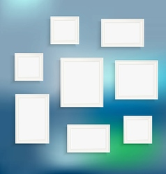 Different frames on blured background Template for vector image vector image