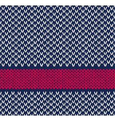 Seamless Marine Color Knitted Pattern vector image vector image
