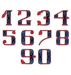 a set of numbers in the Celtic style vector image vector image