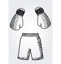hand drawn box equipment vector image vector image