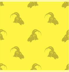 heads of horned goats vector image vector image