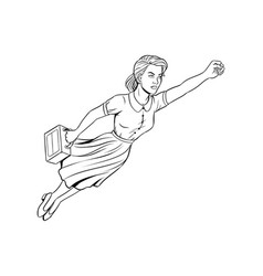 mother super hero coloring book vector image