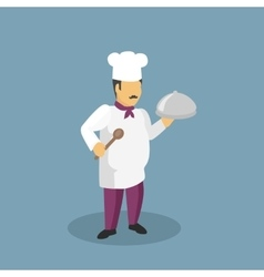 Profession Cooks Character Design Flat vector image
