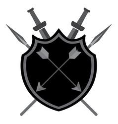 shield with arrows vector image